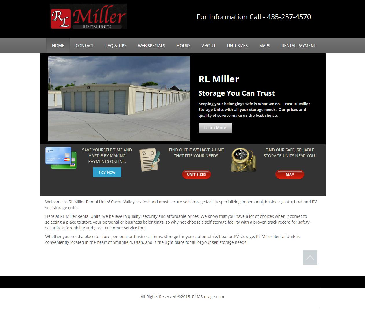 Rl Miller Storage Units Mountain West Web Design